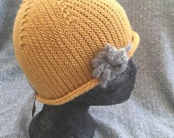 Hand knitted merino hat