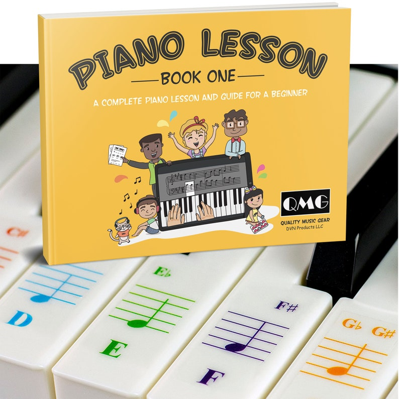Color Piano and Keyboard Stickers and Complete Color Note image 0