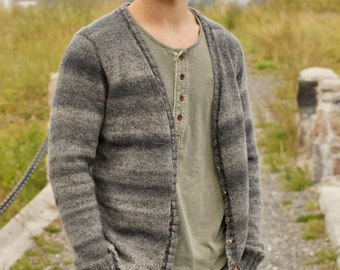 Men's cardigan Hand knit
