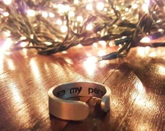 Ring with internal engraving