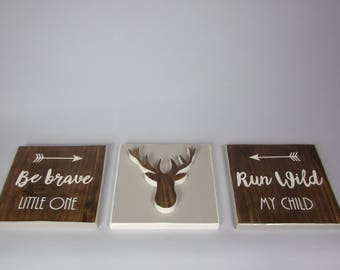 2bc00dc6b3704 Little stag signs | Etsy