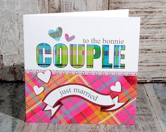 Greetings Card Bonnie Couple Just Married