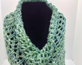 Hand knitted Alpaca Silk Cowl