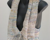 Alpaca Silk Hand Spun Handwoven scarf/vest