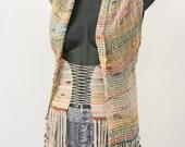 Alpaca, silk bodice/scarf/vest
