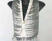 Alpaca Silk Handwoven scarf/vest