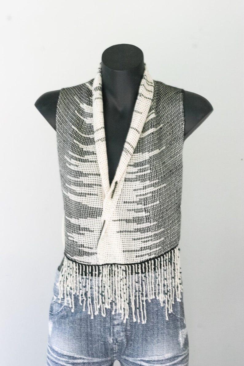 Alpaca Silk Handwoven scarf/vest image 0