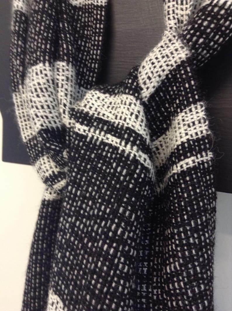Alpaca Silk Scarf Hand Spun Handwoven