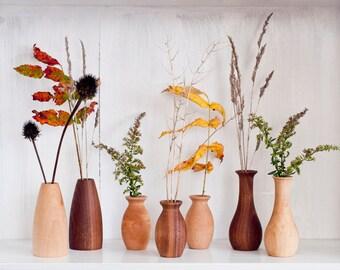Weed pot, Stick pot, Dry flower vases, Wood vases, Miniature  vases, Bud vase, Wooden vase