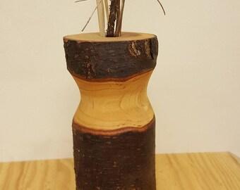 Stick Pot, Vase, Wood Vase, Rustic Vase, Weed Vase, Small Vase, Bud Vase, Wild Flower Vase