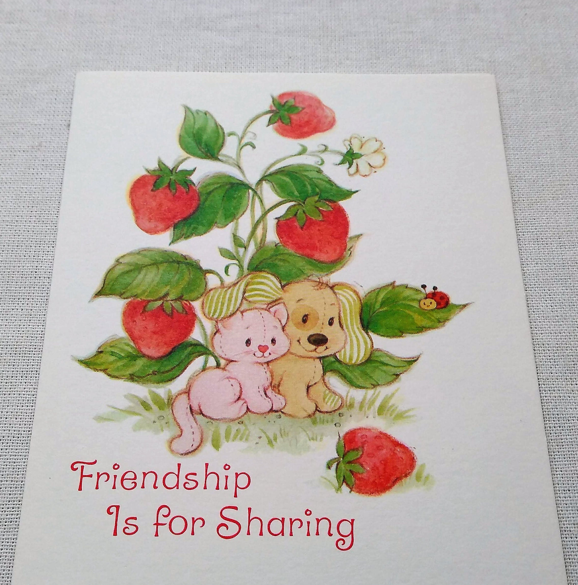 Vintage Greeting Cards Strawberry Shortcake Unused 80s Etsy