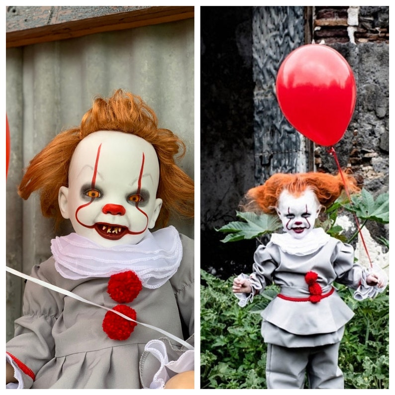 Pennywise costume cosplay costume pennywise halloween costume kids  halloween costume women pennywise baby toddler halloween costume clown it