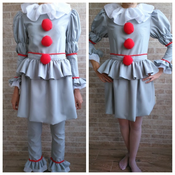Pennywise Costume Dress Pennywise Clown Pennywise The Clown Etsy Enchanting Pennywise Costume Pattern