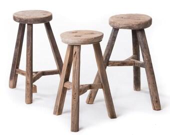 Brilliant Wooden Stool Etsy Beatyapartments Chair Design Images Beatyapartmentscom