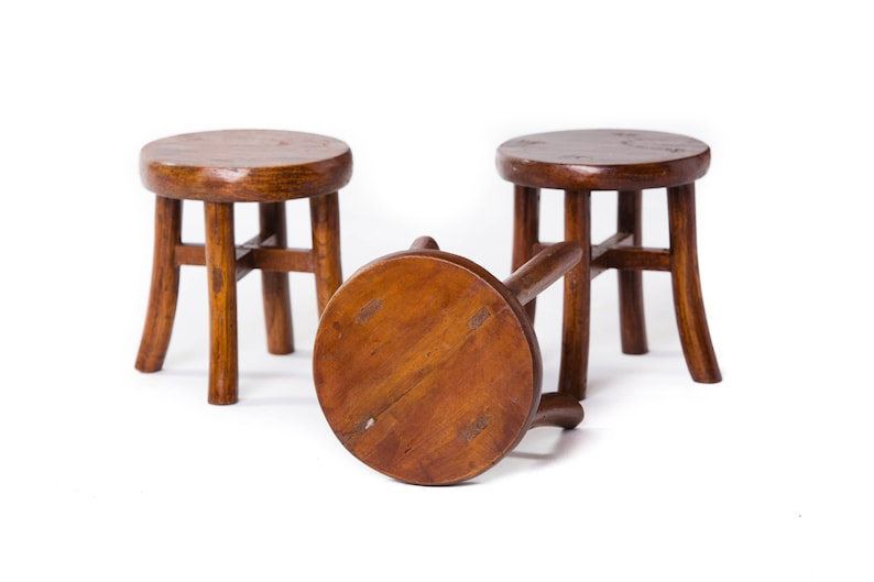 Admirable Chinese Old Antique Mini Round Wooden Stools Unique Pieces Imported From China Creativecarmelina Interior Chair Design Creativecarmelinacom