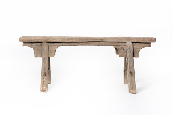 Superb Rustic Chinese Wooden Bench Old Unique Wooden Benches Vintage Weathered Wood Creativecarmelina Interior Chair Design Creativecarmelinacom