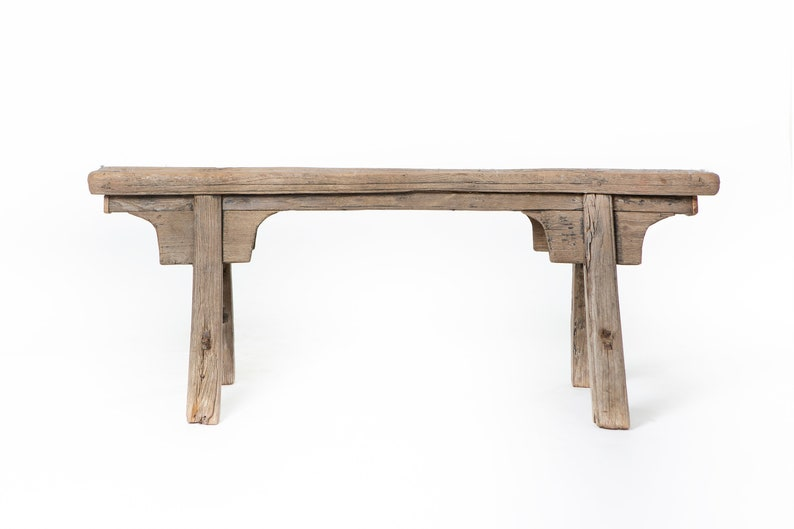 Rustic Chinese Wooden Bench Old Unique Wooden Benches Etsy