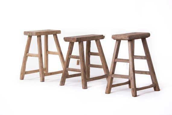 Sgabello di legno antico cinese vecchio pezzi unici etsy