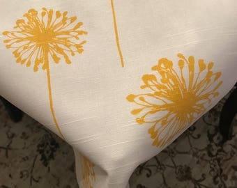 Spring Tablecloth | Yellow | Thanksgiving Tablecloth | Summer Tablecloth | Dandelion Tablecloth | Dandelion Decor Table Linens | Overl