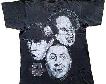 650dfc03 Vintage 90s/ 3 Stooges Curley/ Moe And Larry Comedy/ Movie Tshirt/ Size M/  Changes Tag/ Clearance Sale!!!