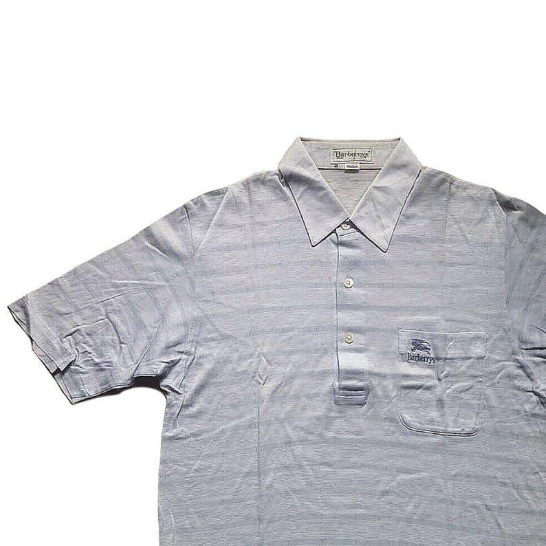 c4731d2a Vintage Burberrys Polo Shirt 50/50 Stripes Medium Size On | Etsy