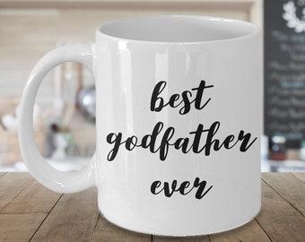 Godfather Coffee Mug Godfather Coffee Cup Godfather Gift - Best Godfather Ever Godfather Mug Ceramic Coffee Cup Gift for Godfathers