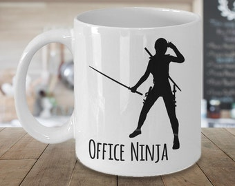 Admin Assistant Gift - Office Ninja Mug Coffee Mug Ceramic Tea Cup - Administrative Assistant Gift - Office Manager Gift - Secretary Gift