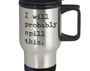 Funny travel mug | Etsy