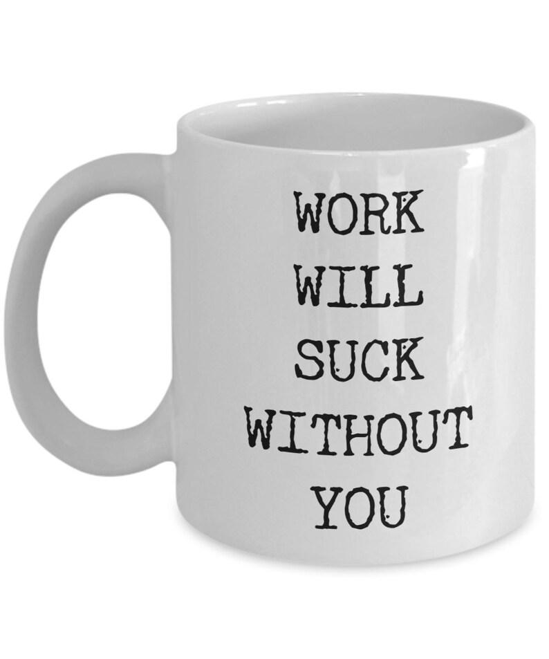 Personnalisé drôle rude laissant Mug bonne chance laissant travail Cadeaux nouveau travail Cadeau Fo
