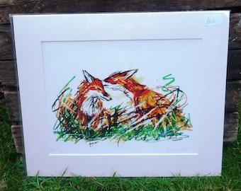 Fox Love Giclee Print