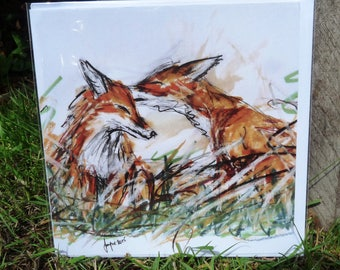 Fox Love Greetings Card