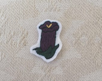 Canterbury Bell Purple Hand Embroidered Flower Patch