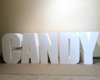 Giant letter 30 inch 3D letter Large free standing letters Wedding letters Reception letter Candy bar letters Photo shot letter Table letter