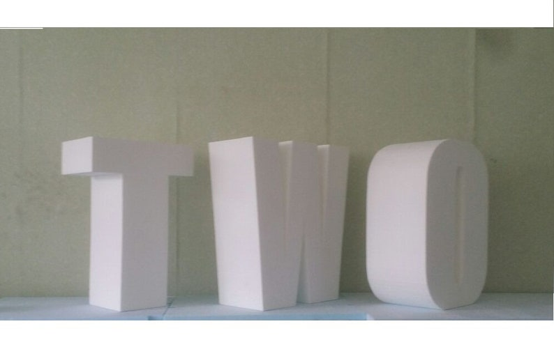 Giant letters 20 inches 3D letters Large free standing letter Mini table base letters Giant foam letter Party decor Baby table letters