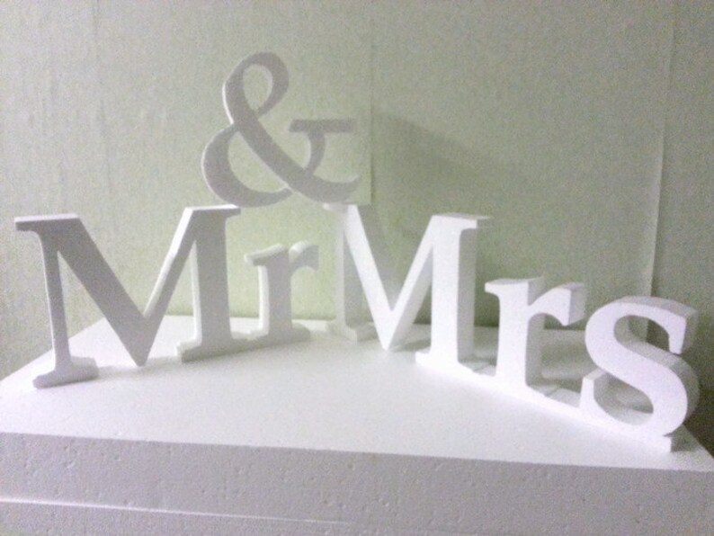 Large wedding letters Mr and Mrs letters 3D letters Large block letters  Wedding signs Decoration for parties Reception letters Nonpainted