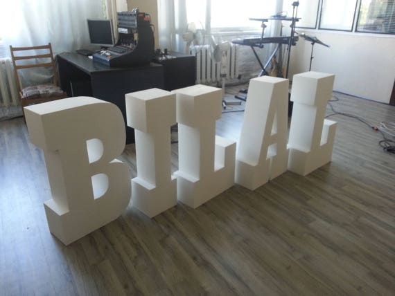 Styrofoam letters Giant letters 30 inches Large free standing letter  Initials letters Party decor letter Monogram letter Table base letters