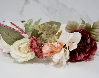 Flower Crown - Floral Halo - Hair Accessory