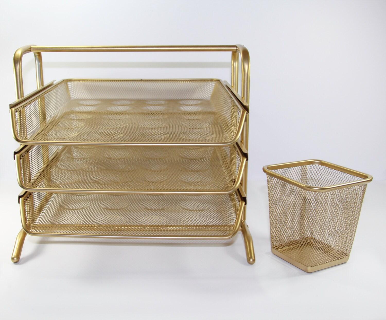 Gold-Schreibtisch-Organizer-Set   Etsy