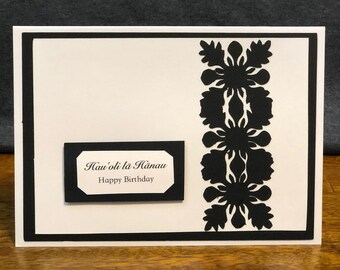Hawaii|Birthday|Unique|Love|Birthday gift|Black|Gift|Gift for her|Gift for him|Handmade|Aloha|card|greeting card