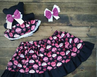 toddler skirt, 2 year old, 3 year old, birthday outfit, toddler girl outfit, girls clothing, toddler girl gift