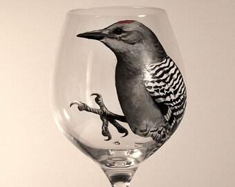 Gila Woodpecker Red Wine glass
