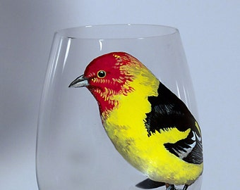 Western Tanager couple - set