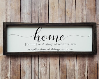 Home Quote Sign Decor Definition A Story Of Who