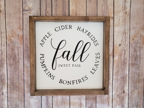 Fall Home Decor Sign