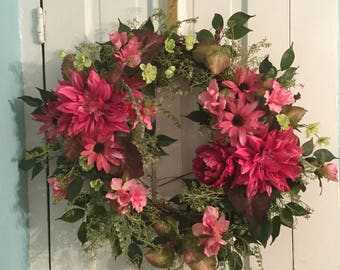 PASSIONATE PINK Wreath