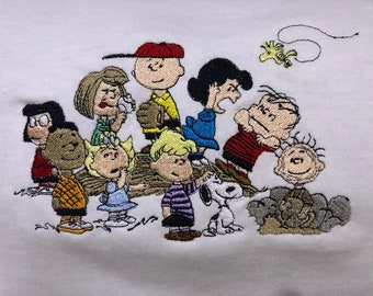 Snoopy Dog Peanuts Charlie Brown funny 3//4 Short sleeve Woman T Shirt K134