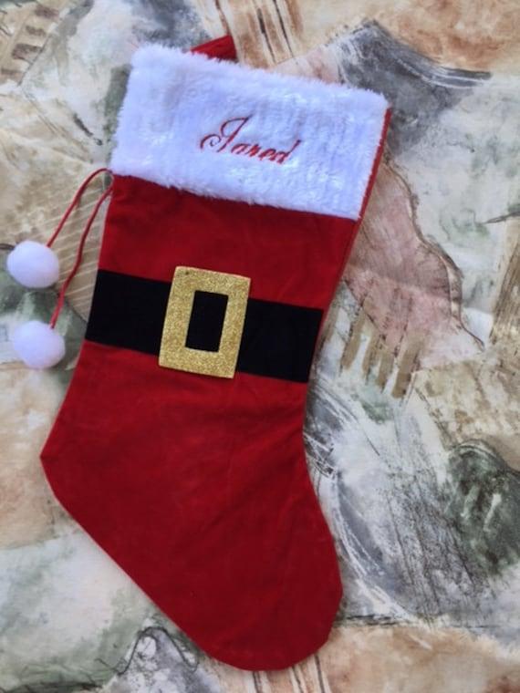 image 0 - Embroidered Christmas Stockings
