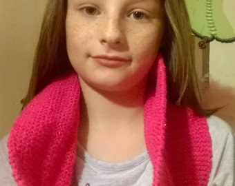 Vibrant bright pink snood