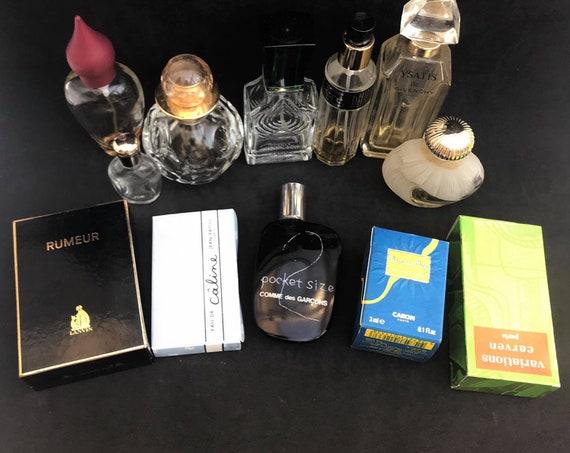 Vintage perfum bottles set Miniature Carven Caron Collectible  Lanvin Jean Patou Givenchy Nina Castelbajac Empty and Filled Vanity decor