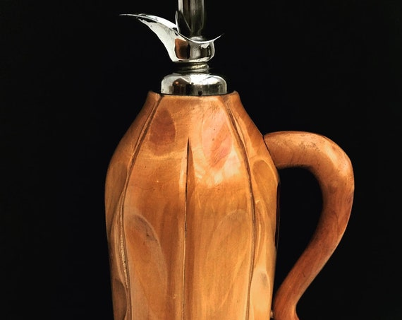 Aldo Tura Vintage 1950s For Macabo Cusano Milanino Milano Italy Bamboo Pitcher modernist thermos pitcher caraffe gift for him Boho chic deco